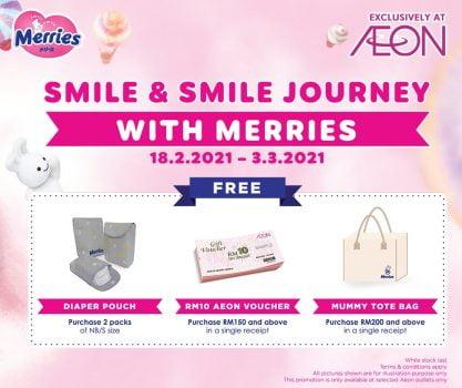 Promosi Merry x AEON Free Diaper Pouch / AEON Voucher / Mummy Tote Bags