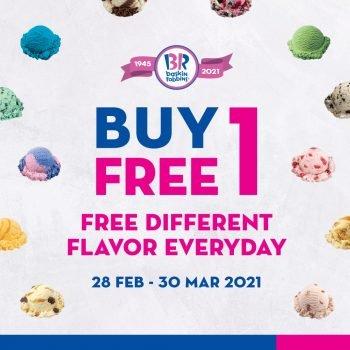 Baskin Robbins Beli 1 Percuma 1 Februari - Mac Promosi