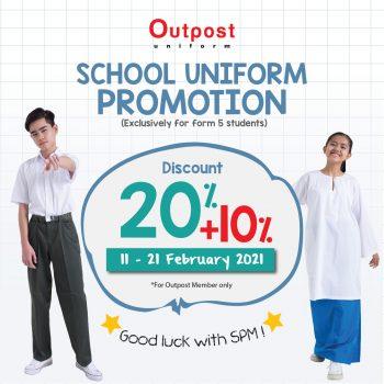 Promosi Outpost Scholl Uniform 20% + Diskaun 10%
