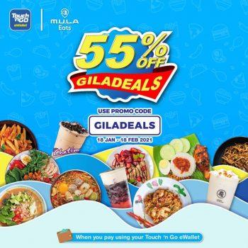 MULA Makan Diskaun 55% Kod Promosi