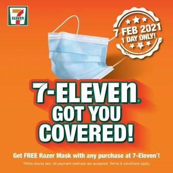 Masker Wajah Razer PERCUMA di 7-Eleven