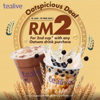 Tealive cawan ke-2 dengan hanya Promosi CNY RM2
