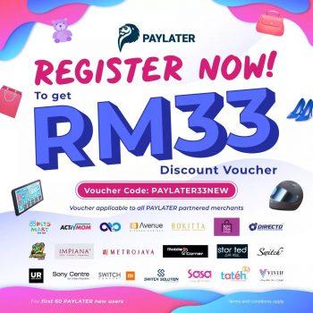 PAYLATER APP Percuma RM33 Kod Baucar