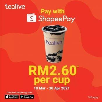 Minuman Tealive Dengan Harga Hanya RM2.60