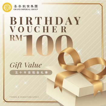 Baucar Makanan RM100 Grand Imperial
