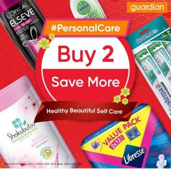 Pesta Penjagaan Peribadi Guardian dengan promo Buy 2 Save More