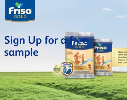 Friso Gold dengan Contoh Hadiah Susu Percuma Susu NOVAS