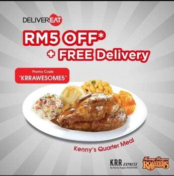 Diskaun RM5 untuk KRR Meals anda dengan kod promo DeliverEat