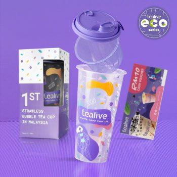 Beli Tealive Eco Strawless Cup & Dapatkan Baucar Tunai RM10 Percuma