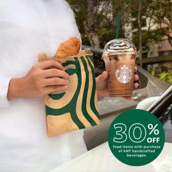 Starbucks Extra 30% item makanan dengan pembelian