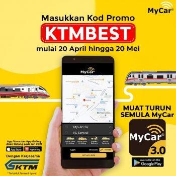 Kod Promosi KTMB x Mycar Extra RM2 Diskaun