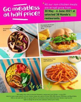 Makanan bukan ayam Nando dengan harga promosi separuh