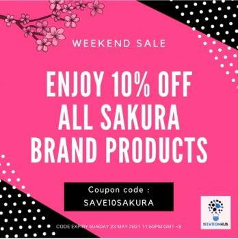 10% semua Alat Tulis jenama Sakura