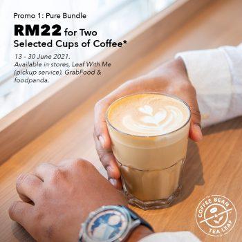 Coffee Bean & Tea Leaf RM22 untuk dua cawan kopi pilihan