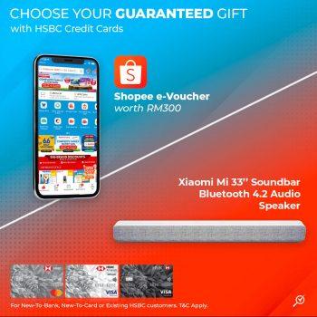 E-Voucher Shopee RM300 percuma / Bilah Suara Xiaomi Mi 33 by oleh Kad Kredit HSBC