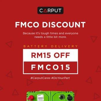 Diskaun Carput FMCO - Bateri Diskaun RM15