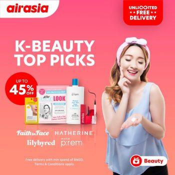 Airasia Beauty Diskaun Sehingga 45% untuk K-Beauty + Penghantaran Percuma