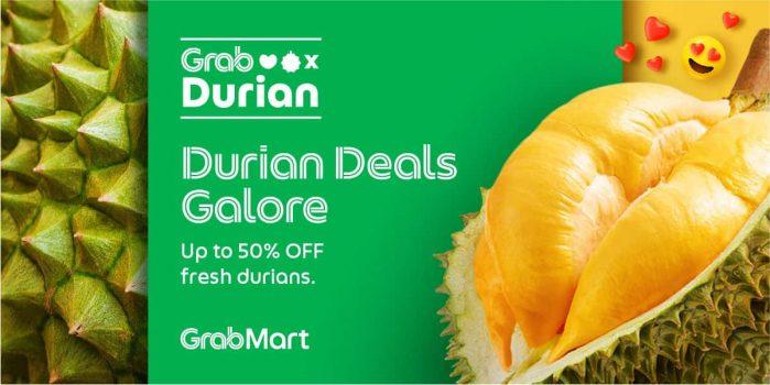 Tawaran Grab x Durian Diskaun Sehingga 50% untuk Durian Segar