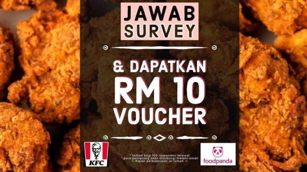 E-baucar RM10 KFC / Foodpanda percuma