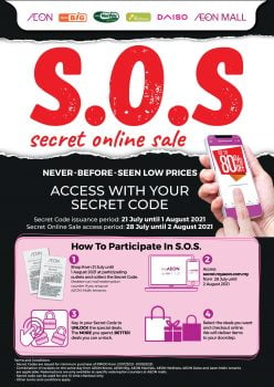 Kod Promosi SOS Jualan Dalam Talian AEON BIG Secret