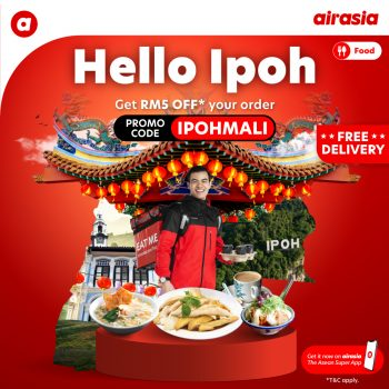 Airasia Food Ipoh Lancar Diskaun RM5 + Penghantaran Percuma