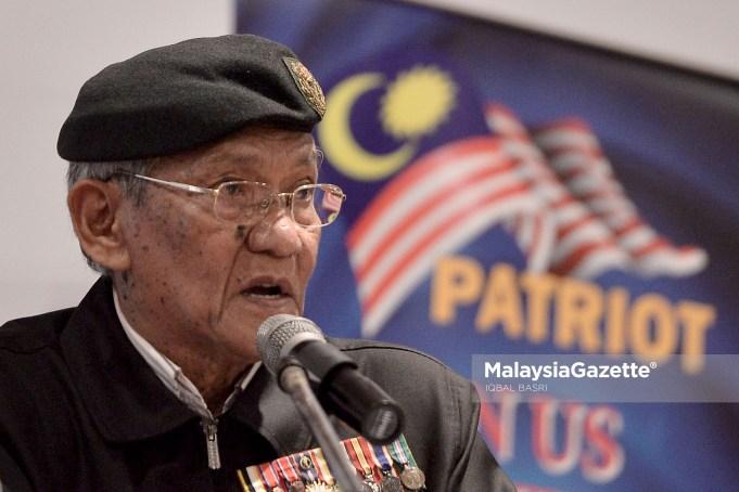 Presiden Persatuan Patriot Kebangsaan (Patriot), Brig Jen (B) Mohamed Arshad Raji.