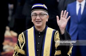 Yang Dipertua Dewan Rakyat, Datuk Mohamad Ariff Md. Yusof pada hari pertama persidangan Dewan Rakyat Parlimen ke-14 di Bangunan Parlimen, Kuala Lumpur. foto FAREEZ FADZIL, 16 JULAI 2018