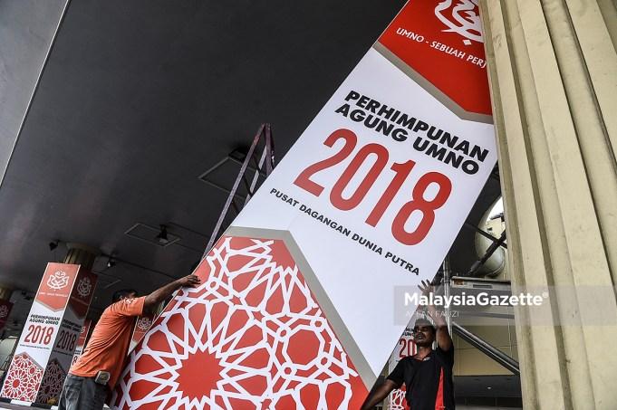 Persiapan Perhimpunan Agung UMNO 2018 ketika tinjauan lensa MalaysiaGazette sempena Perhimpunan Agung UMNO 2018 yang bakal tiba tidak lama lagi di Pusat Dagangan Dunia Putra (PWTC), Kuala Lumpur. foto AFFAN FAUZI, 22 SEPTEMBER 2018