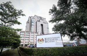 Bangunan Kementerian Pendidikan Malaysia. foto HAZROL ZAINAL, 02 NOVEMBER 2018.