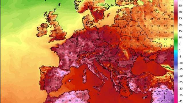 Peta gelombang panas Eropah