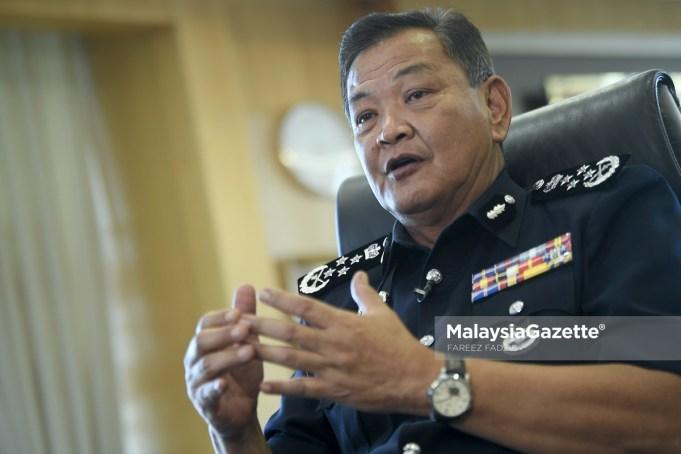 Inspector-General of Police, Tan Sri Abdul Hamid Bador. PIX: FAREEZ FADZIL / MalaysiaGazette / 06 FEBRUARY 2021. drug lord Tan Sri Datuk Seri drug syndicates