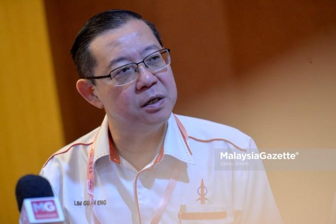 Secretary-General of DAP, Lim Guan Eng. PIX: IQBAL BASRI / MalaysiaGazette / 10 NOVEMBER 2019 President DAP election central committee influence