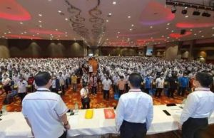 The attendees of DAP Perak Convention at the Ipoh Convention Centre Perak (ICC) yesterday.