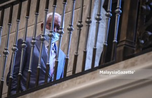 Former Prime Minister, Datuk Seri Najib Tun Razak arrives at the Palace of Justice in Putrajaya, for his appeal to strike off his conviction on the misappropriation of RM42 million belonging to SRC International Sdn Bhd. PIX: HAZROL ZAINAL / MalaysiaGazette /a 07 APRIL 2021.