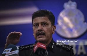 The Kuala Lumpur Police Chief, Datuk Azmi Abu Kassim at a news conference. PIX: HAZROL ZAINAL / MalaysiaGazette / 07 MAY 2021. roadblocks MCO KL Kuala Lumpur