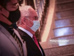 Former Prime Minister, Datuk Seri Najib Tun Razak arrives at the Palace of Justice for the hearing of his appeal to strike off conviction on the misappropriation of SRC International Sdn Bhd's funds. PIX: SYAFIQ AMBAK / MalaysiaGazette / 18 MAY 2021.