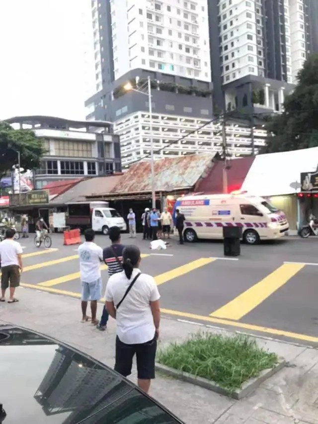 A senior citizen died at the location after being hit by the suspect who was fleeing from the police.