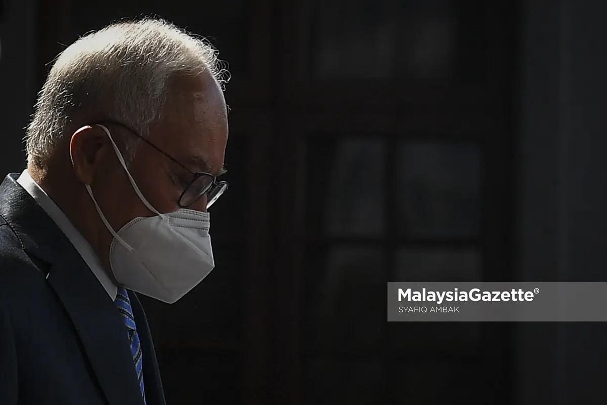 Former Prime Minister, Datuk Seri Najib Tun Razak left the Kuala Lumpur Courts Complex after the proceeding of his 1 Malaysia Development Berhad (1MDB) corruption trial. PIX: SYAFIQ AMBAK / MalaysiaGazette / 12 JULY 2021 Zeti Akhtar Aziz family Jho Low Taek Jho corruption trial