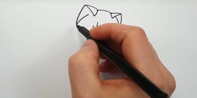 Orelhas mais úteis na forma de triângulos e conectar sua linha suave