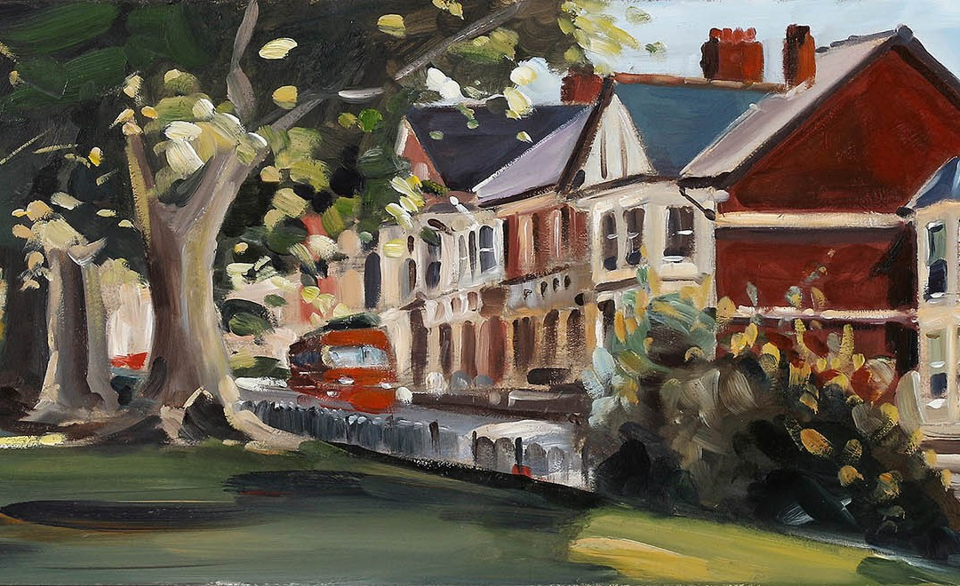 Painting of Roath Mill Gardens
