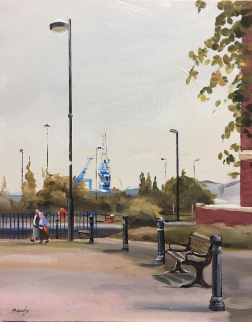 Great Day For Plein Air Painting Cardiff Docks
