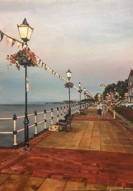 Early Evening Lights Penarth Esplanade
