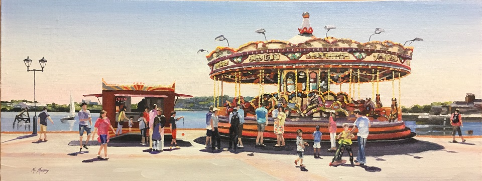 Cardiff Bay Carousel and Yo-Yo Boy