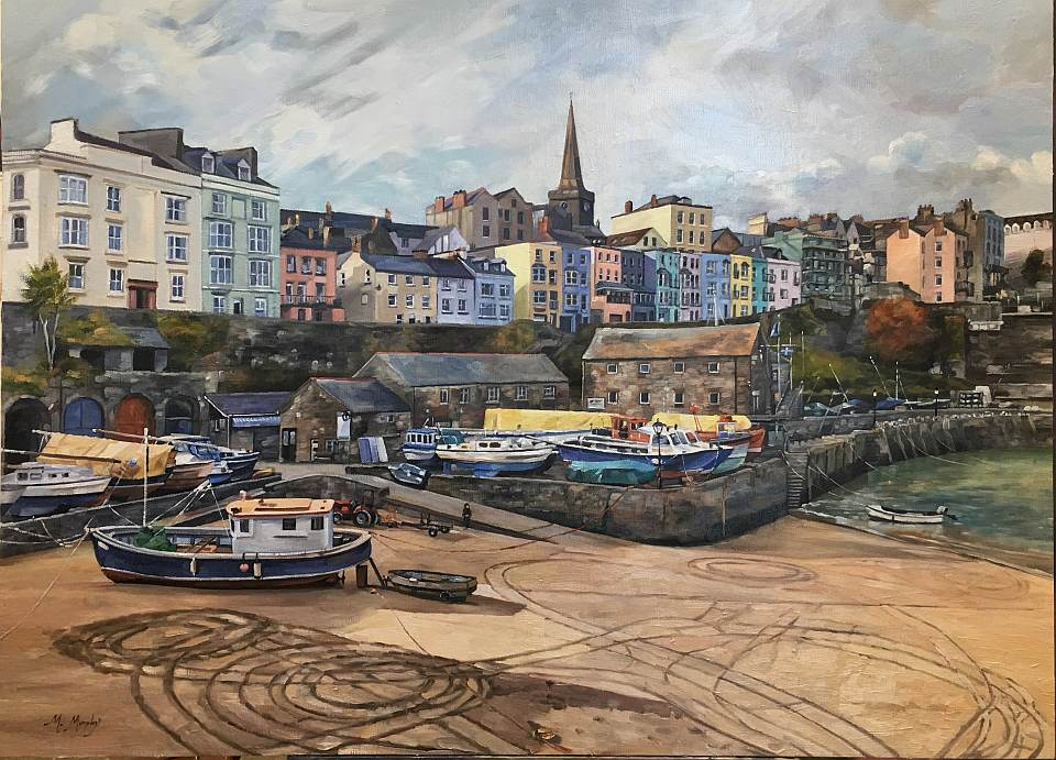 Oil Painting of Tenby Harbour