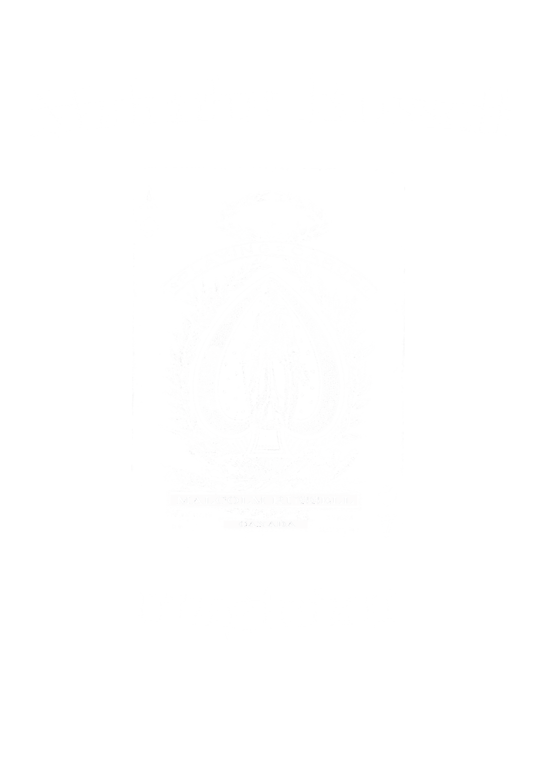 Malcolm Russell magician playing card logo