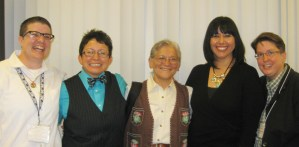 Rita Urquijo-Ruiz, Rusty Barcelo, Irene Mata, Karleen Pendleton and Linda Heidenreich
