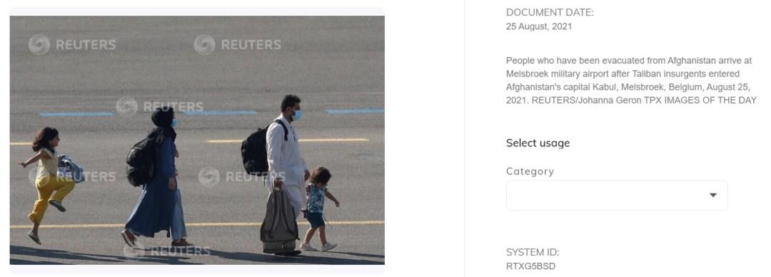 Captura de la foto de Reuters.