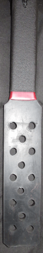 rubber sp;anking paddle with holes