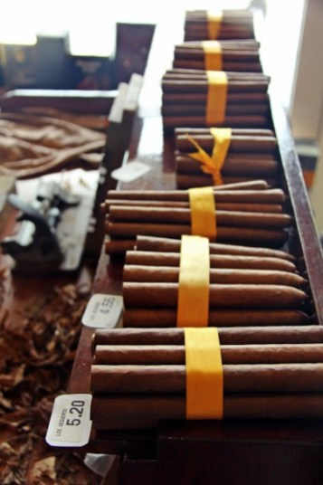 Hand-rolled Cuban Cigars