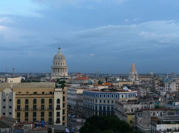 Overlooking the rooftops of Havana